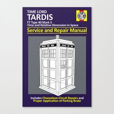 Tardis Service and Repair Manual Canvas Print