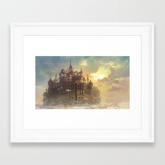 High castle Framed Art Print