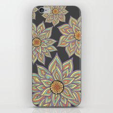 Floral Rhythm In The Dark iPhone & iPod Skin