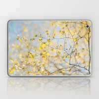 Golden Silver Birch Leaves Laptop & iPad Skin