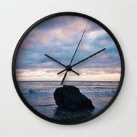 Sunset At El Pescador Be… Wall Clock