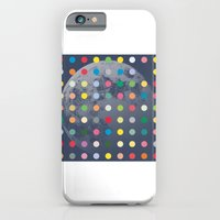 iPhone & iPod Case featuring Blue Moon With Multi-Coloured Dots by justlikeandy.co.uk Andy Warhol-style