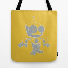 Robot Distressed Tote Bag