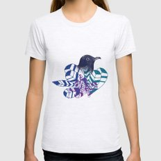 birdy Womens Fitted Tee Ash Grey SMALL