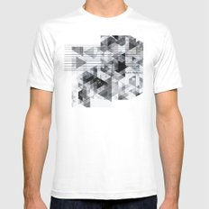 Marble madness SMALL Mens Fitted Tee White