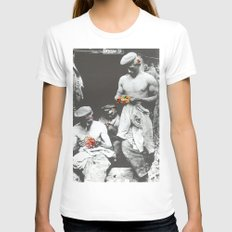 brighten up lads Womens Fitted Tee White SMALL