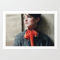 Snowscape Portrait Art Print