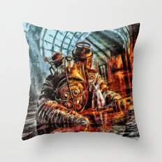 Bioshock Mr Bubble's Please Get Up Throw Pillow