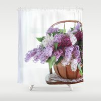 Bouquet of Beautiful - Lilacs  Shower Curtain