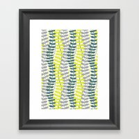 Seagrass Pattern - Teal … Framed Art Print