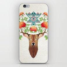 deer flowers iPhone & iPod Skin