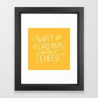 Cheese Dreams Framed Art Print
