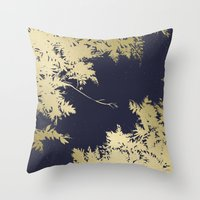 Night's Sky Gold & Midnight Throw Pillow