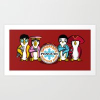 Sgt. Popper's Penguin Ma… Art Print