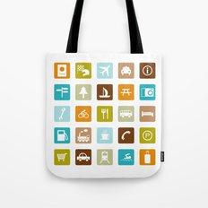 Travel Icons Tote Bag