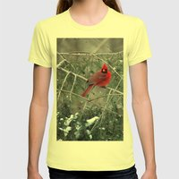 Winter Cardinal Womens Fitted Tee Lemon SMALL