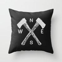 Compass 2 Throw Pillow