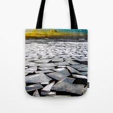 Broken ice floes Tote Bag