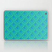Teal Parasols Pattern Laptop & iPad Skin