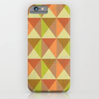 iPhone & iPod Case featuring Triangle Diamond Grid by rollerpimp