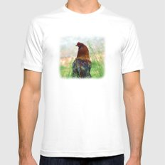 The Hen - Glance Back 730 Mens Fitted Tee White SMALL