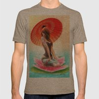 Lotus Girl Mens Fitted Tee Tri-Coffee SMALL
