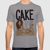 CAKE  Mens Fitted Tee Athletic Grey SMALL