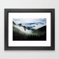 Northwest Mountain Pass Framed Art Print