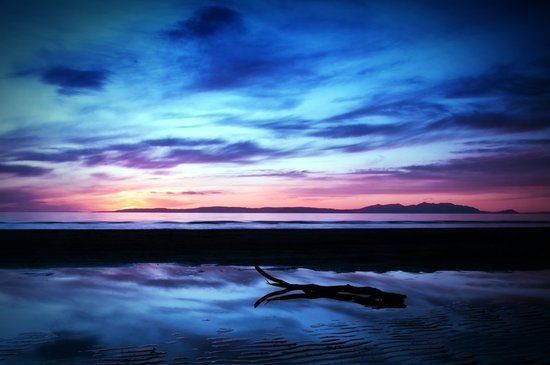 Sunset Over Troon Beach Art Print