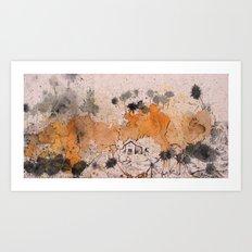 Village Drip Art Print
