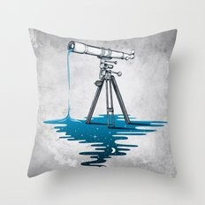 Liquid Universe Throw Pillow