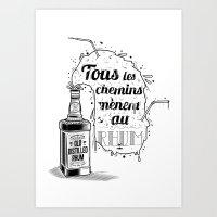 Tous Les Chemins... Art Print