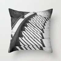 Stairway shadows Throw Pillow