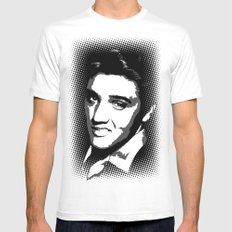 Elvis SMALL White Mens Fitted Tee