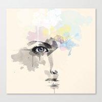 Beyond Her Tears  Canvas Print