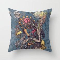 Transmigration color Throw Pillow