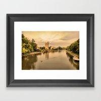 Sunset On The Canal Framed Art Print