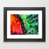 """""""ACTION EXPRESSES PRIORITIES"""" Framed Art Print"""