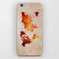 Red World Map iPhone & iPod Skin