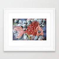 City Fish Framed Art Print