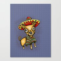 Mexican Chihuahua In Bro… Canvas Print
