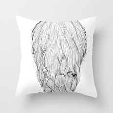 There's a BEAR in BEARd! Throw Pillow