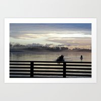 Dock On The Pitt River Art Print