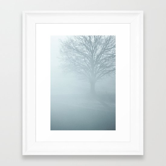 Tree / Winter Silence Framed Art Print