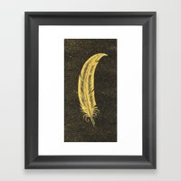 Yellow Feather Framed Art Print