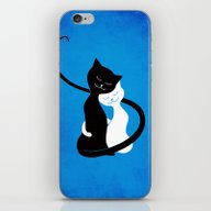 White And Black Cats In … iPhone & iPod Skin