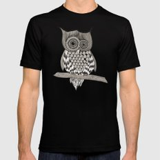 Rupert Owl Mens Fitted Tee SMALL Black