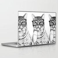 friends Laptop & iPad Skins featuring Mac Cat by florever