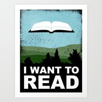 I Want to Read Art Print