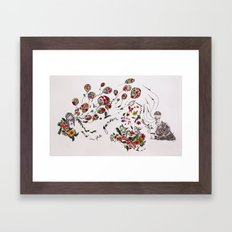 the garden of life Framed Art Print